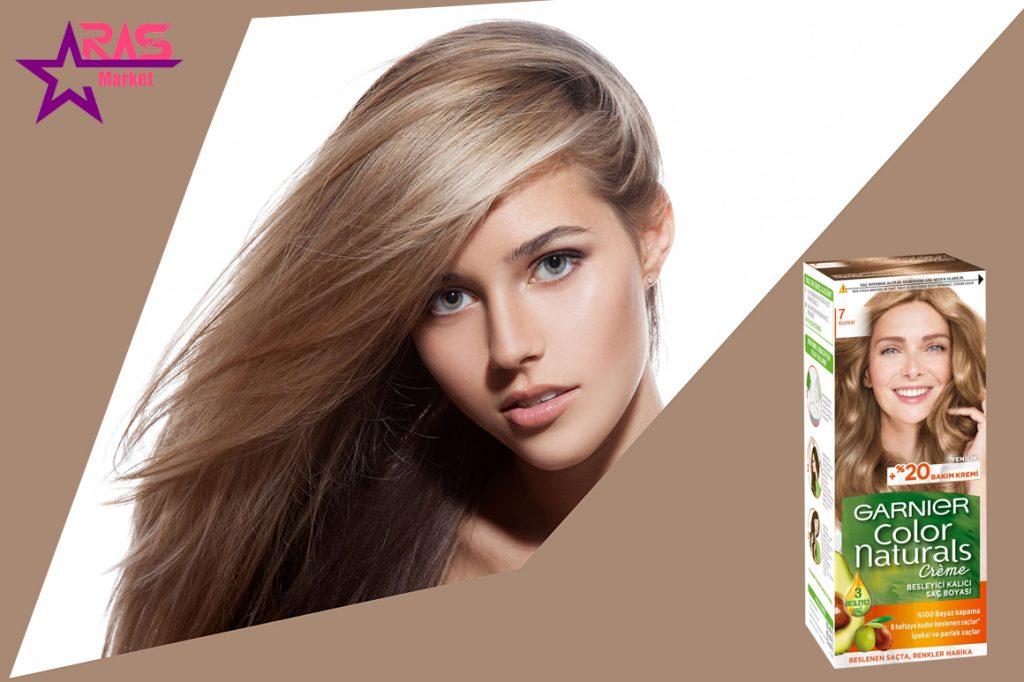 کیت رنگ مو گارنیر سری Color Naturals شماره 7 ، خرید اینترنتی محصولات شوینده و بهداشتی ، بهداشت بانوان ، ارس مارکت