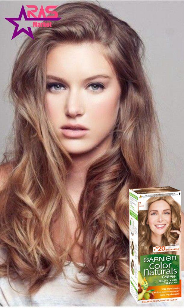 کیت رنگ مو گارنیر سری Color Naturals شماره 7 ، خرید اینترنتی محصولات شوینده و بهداشتی ، بهداشت بانوان ، رنگ مو زنانه