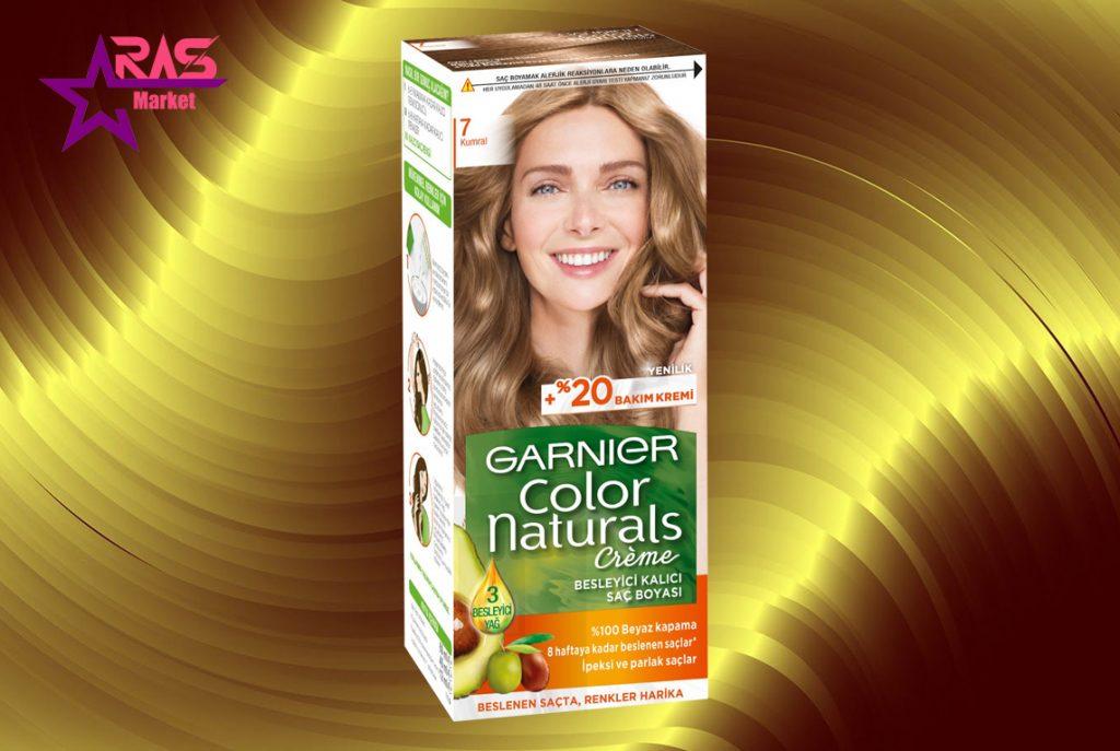 کیت رنگ مو گارنیر سری Color Naturals شماره 7 ، خرید اینترنتی محصولات شوینده و بهداشتی ، بهداشت بانوان ، کیت رنگ مو garnier