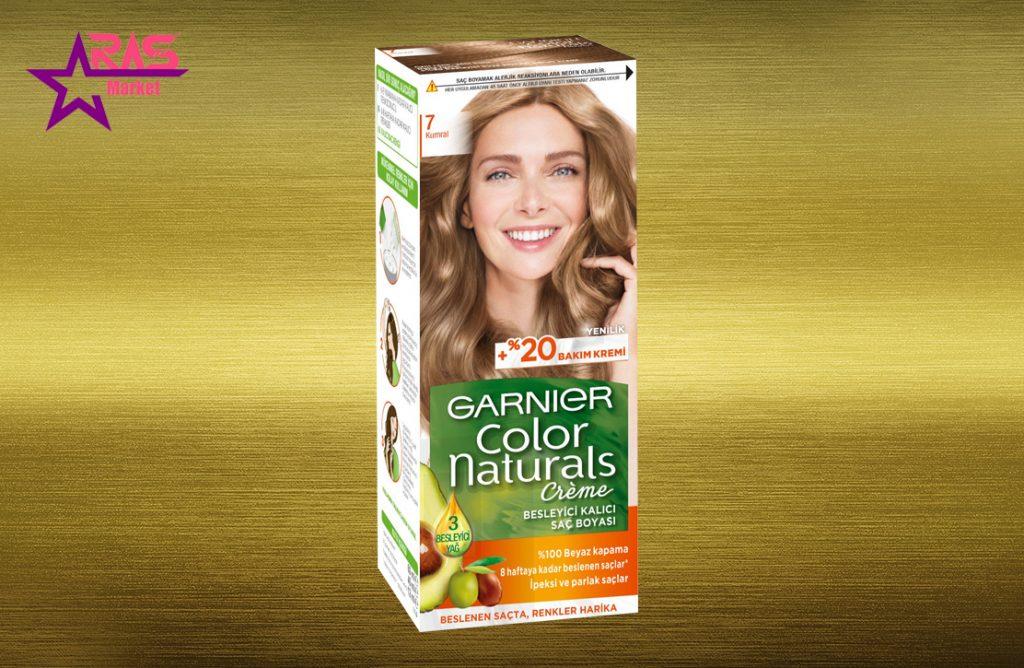 کیت رنگ مو گارنیر سری Color Naturals شماره 7 ، خرید اینترنتی محصولات شوینده و بهداشتی ، بهداشت بانوان