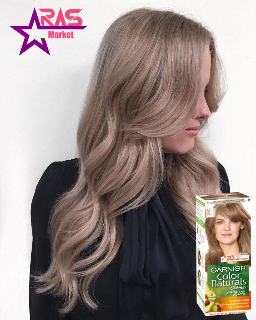 کیت رنگ مو گارنیر سری Color Naturals شماره 7.1 ، خرید اینترنتی محصولات شوینده و بهداشتی ، بهداشت بانوان ، خرید اینترنتی رنگ موی گارنیر ، garnier