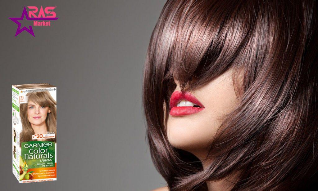 کیت رنگ مو گارنیر سری Color Naturals شماره 7.1 ، خرید اینترنتی محصولات شوینده و بهداشتی ، بهداشت بانوان ، رنگ موی گارنیر