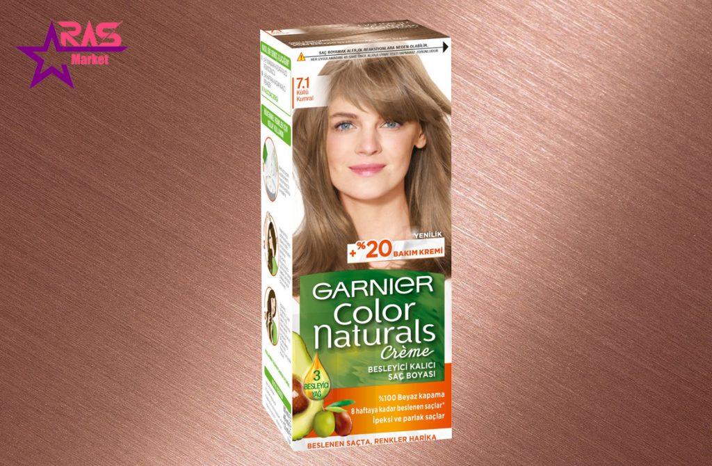کیت رنگ مو گارنیر سری Color Naturals شماره 7.1 ، خرید اینترنتی محصولات شوینده و بهداشتی ، بهداشت بانوان