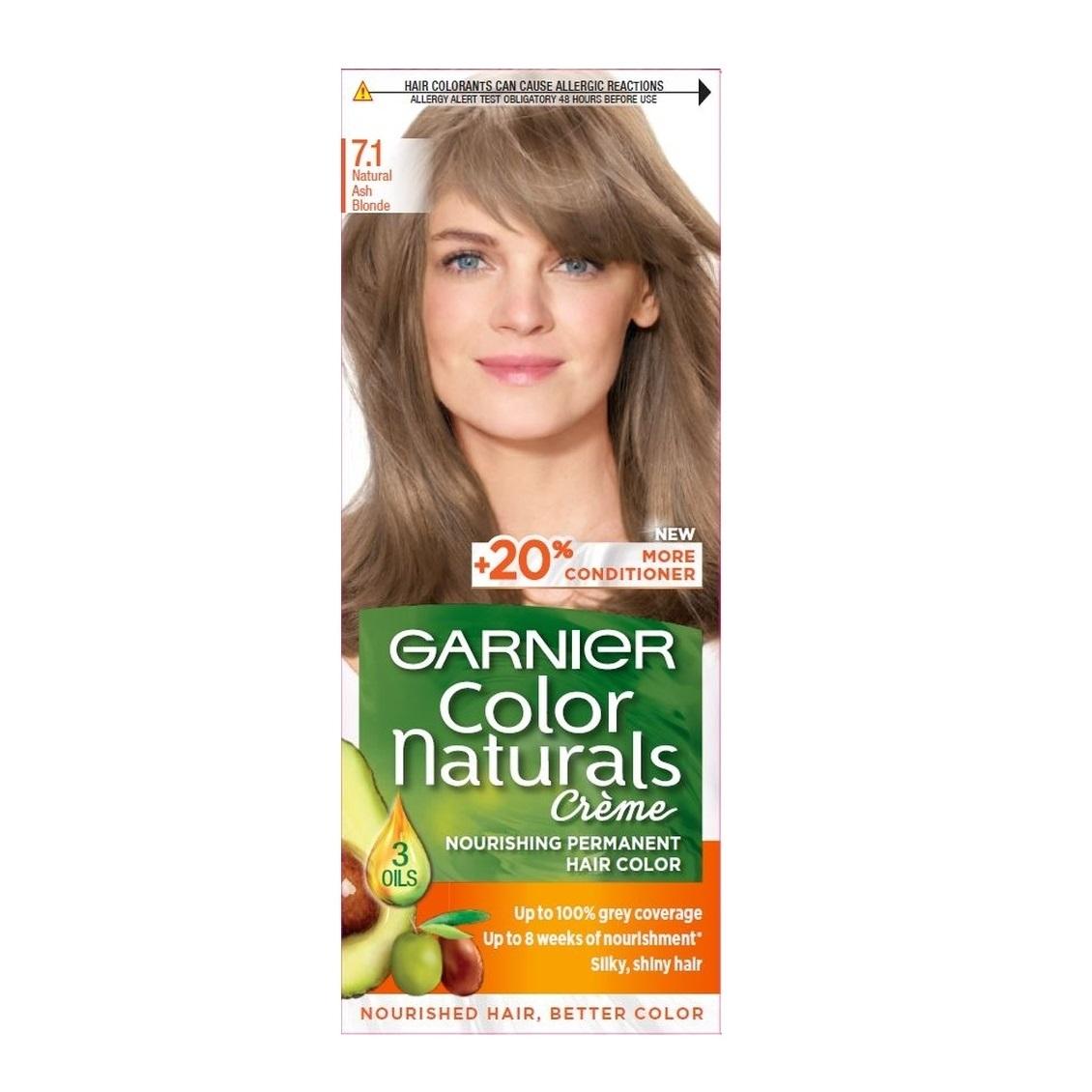 کیت رنگ مو گارنیر سری Color Naturals شماره 7.1