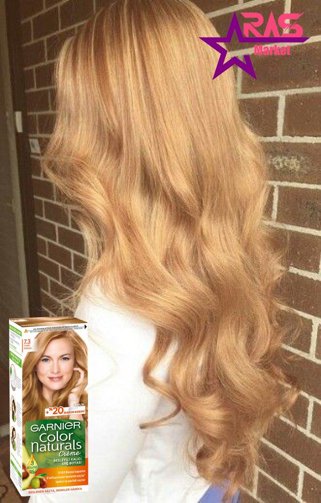 کیت رنگ مو گارنیر سری Color Naturals شماره 7.3 ، خرید اینترنتی محصولات شوینده و بهداشتی ، بهداشت بانوان ، رنگ موی زنانه