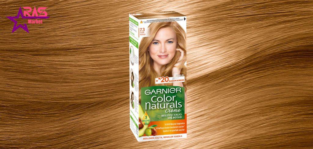 کیت رنگ مو گارنیر سری Color Naturals شماره 7.3 ، خرید اینترنتی محصولات شوینده و بهداشتی ، بهداشت بانوان ، garnier