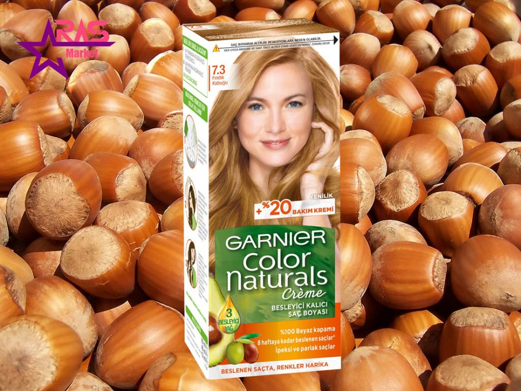 کیت رنگ مو گارنیر سری Color Naturals شماره 7.3 ، خرید اینترنتی محصولات شوینده و بهداشتی ، بهداشت بانوان