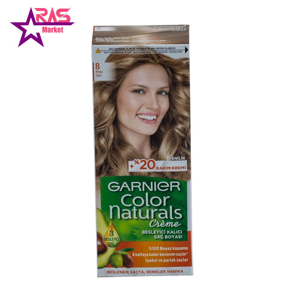کیت رنگ مو گارنیر سری Color Naturals شماره 8 ، فروشگاه اینترنتی ارس مارکت ، بهداشت بانوان