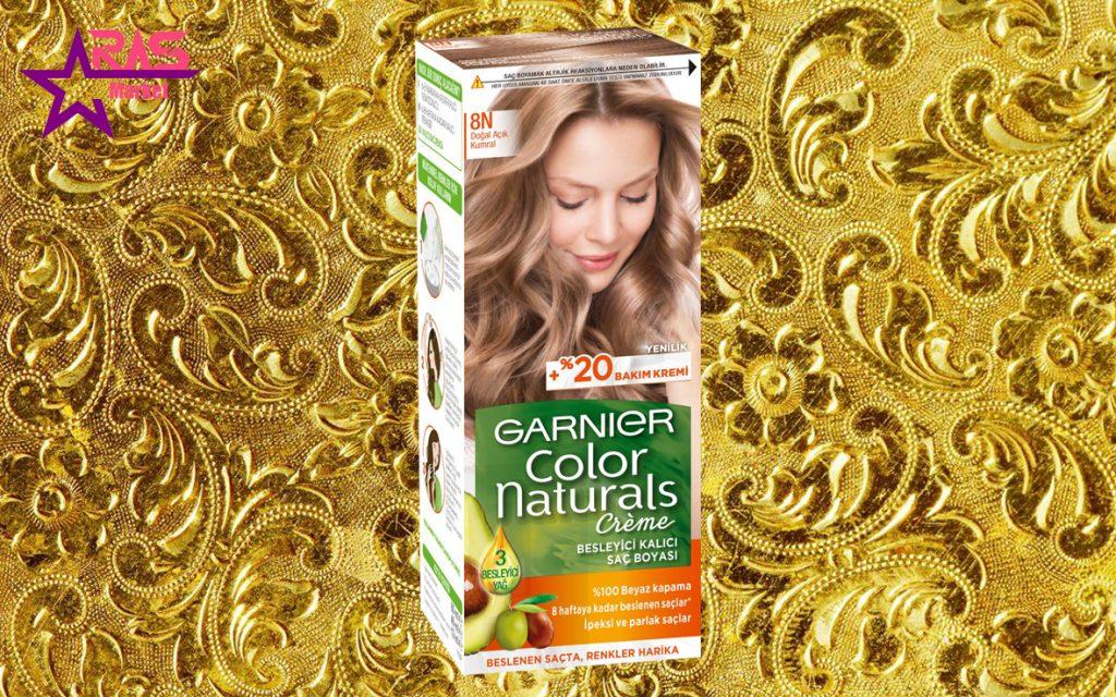 کیت رنگ مو گارنیر سری Color Naturals شماره 8N ، خرید اینترنتی محصولات شوینده و بهداشتی ، بهداشت بانوان