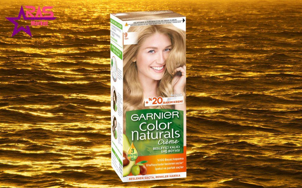 کیت رنگ مو گارنیر سری Color Naturals شماره 9 ، خرید اینترنتی محصولات شوینده و بهداشتی ، بهداشت بانوان ، ارس مارکت