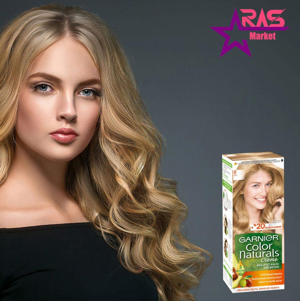 کیت رنگ مو گارنیر سری Color Naturals شماره 9 ، خرید اینترنتی محصولات شوینده و بهداشتی ، بهداشت بانوان ، رنگ موی زنانه گارنیر