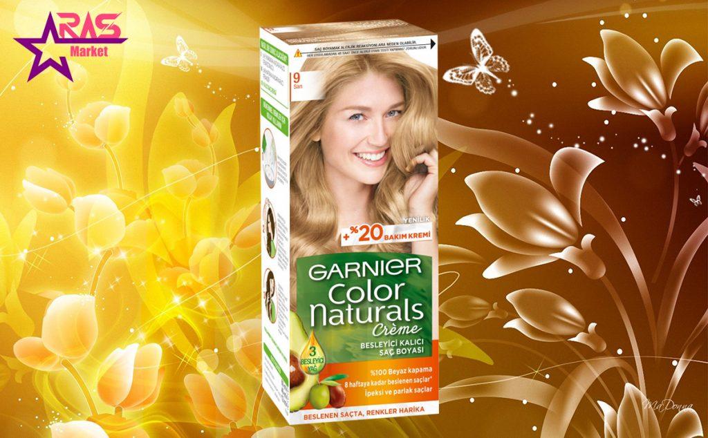 کیت رنگ مو گارنیر سری Color Naturals شماره 9 ، خرید اینترنتی محصولات شوینده و بهداشتی ، بهداشت بانوان