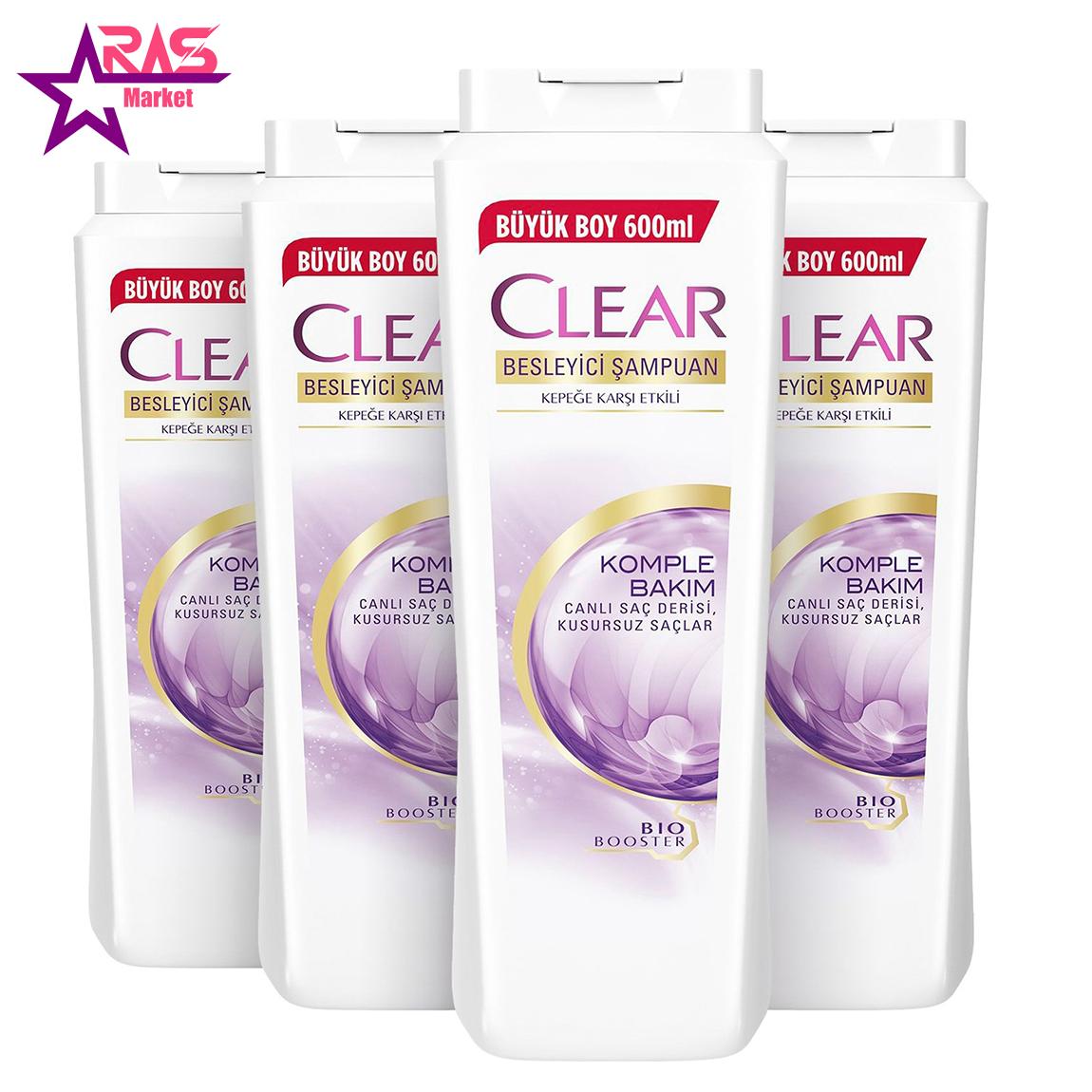 شامپو زنانه کلیر ضد شوره و ترمیم و تقویت کننده مو 600 میلی لیتر ، فروشگاه اینترنتی ارس مارکت ، clear women shampoo