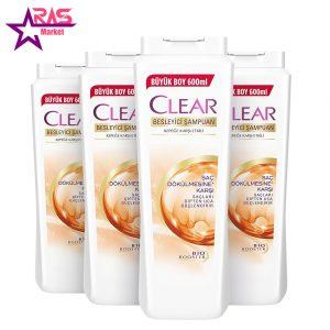 شامپو زنانه کلیر ضد شوره و ضد ریزش مو 600 میلی لیتر ، فروشگاه اینترنتی ارس مارکت ، clear shampoo