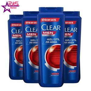 شامپو مردانه کلیر ضد شوره مدل Hızlı Stil حجم 600 میلی لیتر ، فروشگاه اینترنتی ارس مارکت ، استحمام ، clear men shampoo