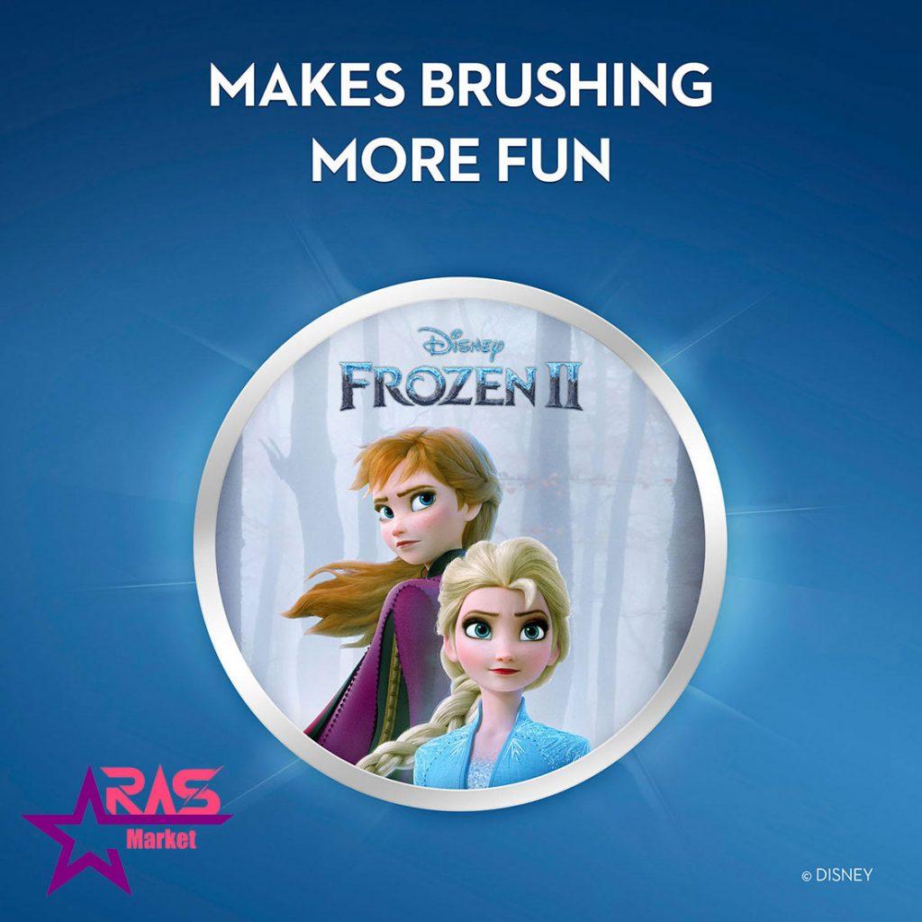 مسواک برقی کودک اورال بی مدل Frozen II ، خرید اینترنتی محصولات شوینده و بهداشتی ، ارس مارکت ، مسواک برقی oralb