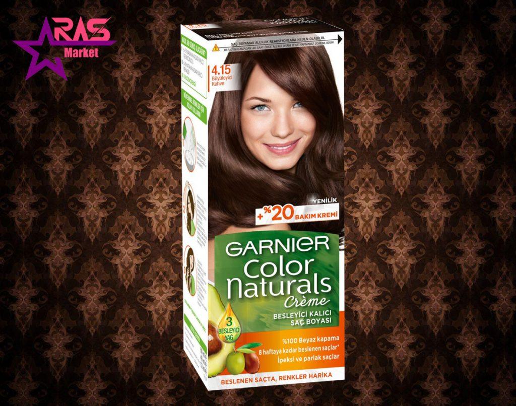 کیت رنگ مو گارنیر سری Color Naturals شماره 4.15 ، خرید اینترنتی محصولات شوینده و بهداشتی ، ارس مارکت
