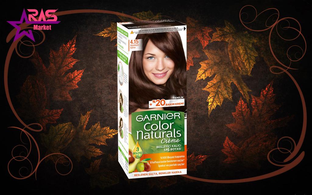 کیت رنگ مو گارنیر سری Color Naturals شماره 4.15 ، خرید اینترنتی محصولات شوینده و بهداشتی