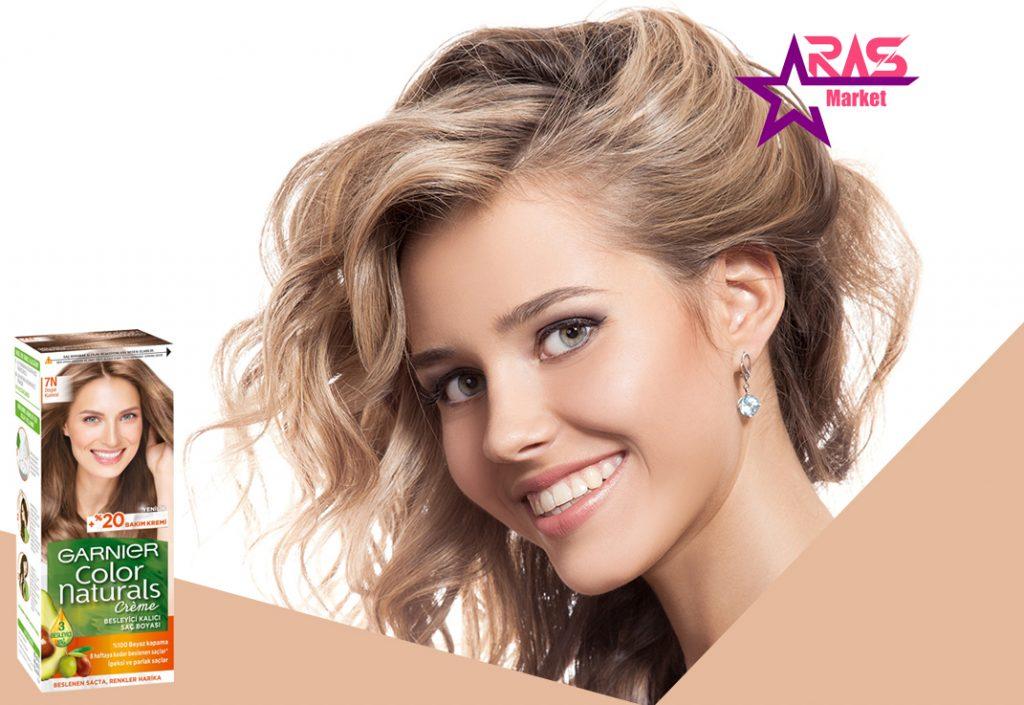 کیت رنگ مو گارنیر سری Color Naturals شماره 7N ، فروشگاه اینتذنتی ارس مارکت ، بهداشت بانوان ، garnier