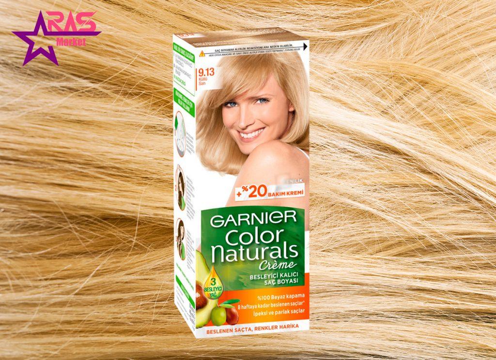 کیت رنگ مو گارنیر سری Color Naturals شماره 9.13 ، خرید اینترنتی محصولات شوینده و بهداشتی ، رنگ موی زنانه گارنیر
