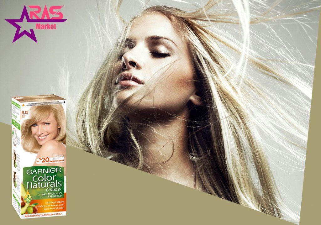 کیت رنگ مو گارنیر سری Color Naturals شماره 9.13 ، خرید اینترنتی محصولات شوینده و بهداشتی ، رنگ موی garnier