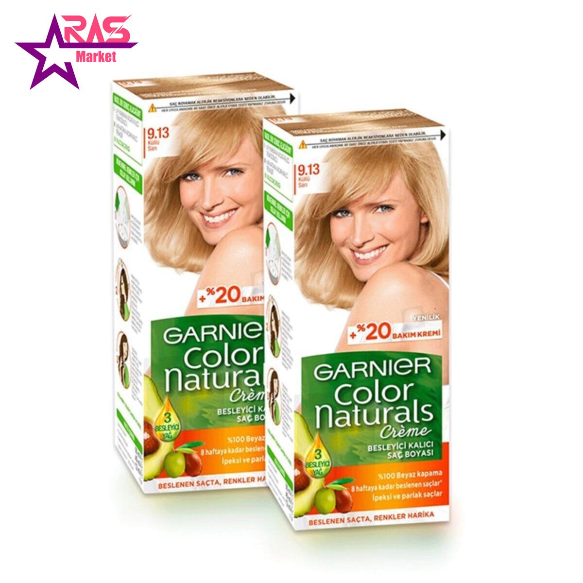 کیت رنگ مو گارنیر سری Color Naturals شماره 9.13 ، فروشگاه اینترنتی ارس مارکت ، رنگ موی گارنیر زنانه