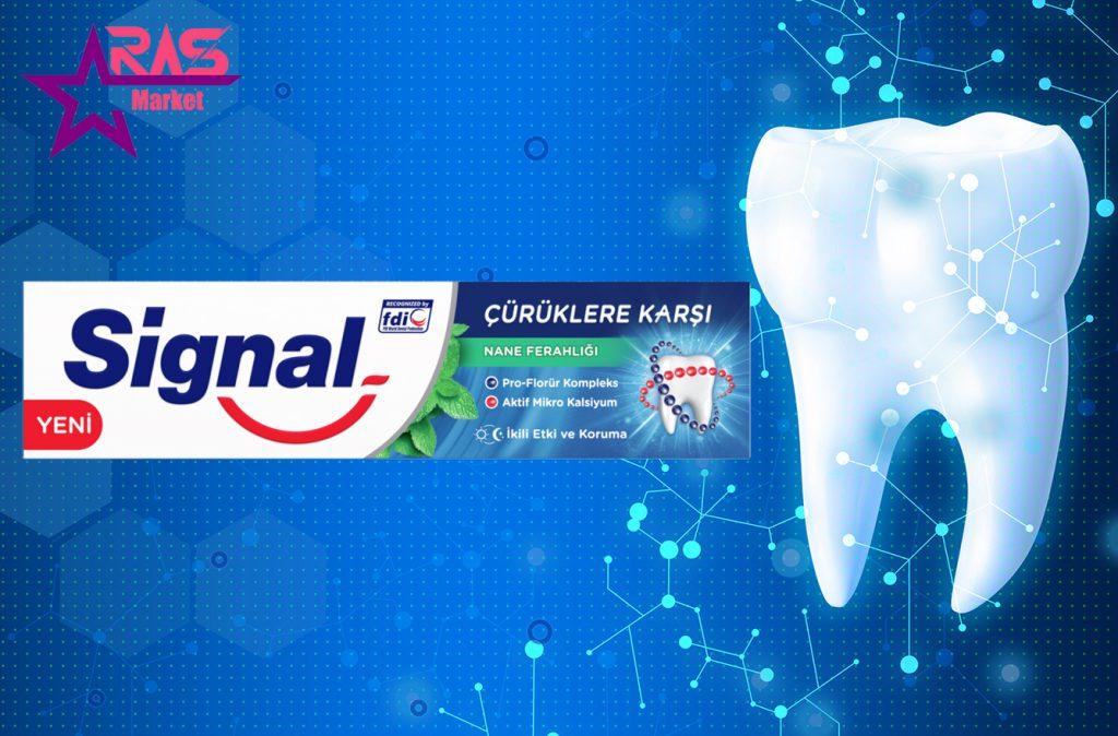 خمیر دندان سیگنال ضد پوسیدگی با رایحه نعنا 100 میلی لیتر ، خرید اینترنتی محصولات شوینده و بهداشتی