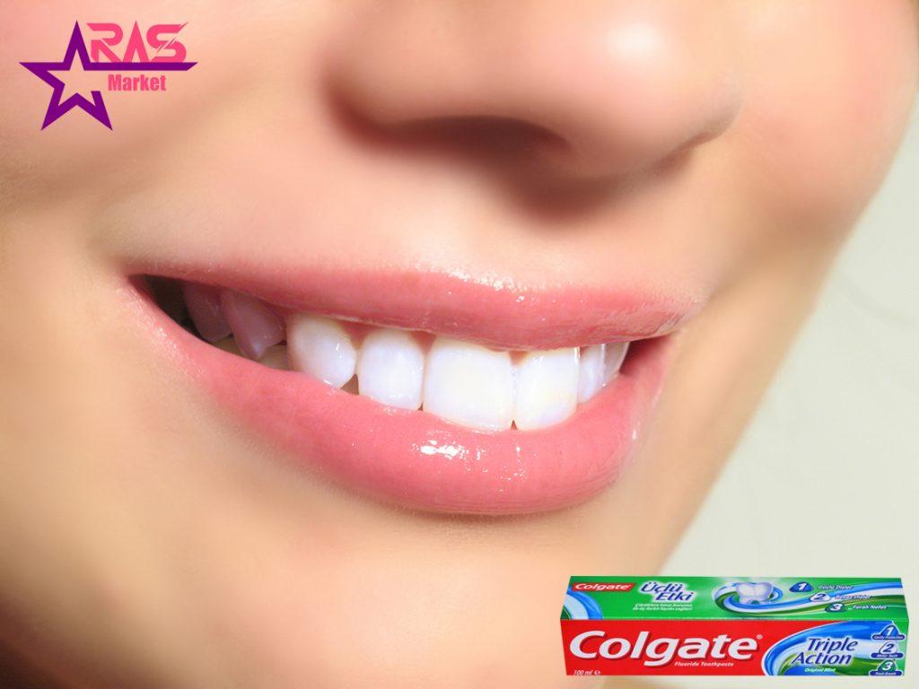 خمیر دندان کلگیت مدل Üçlü Etki حجم 100 میلی لیتر ، خرید اینترنتی محصولات شوینده و بهداشتی