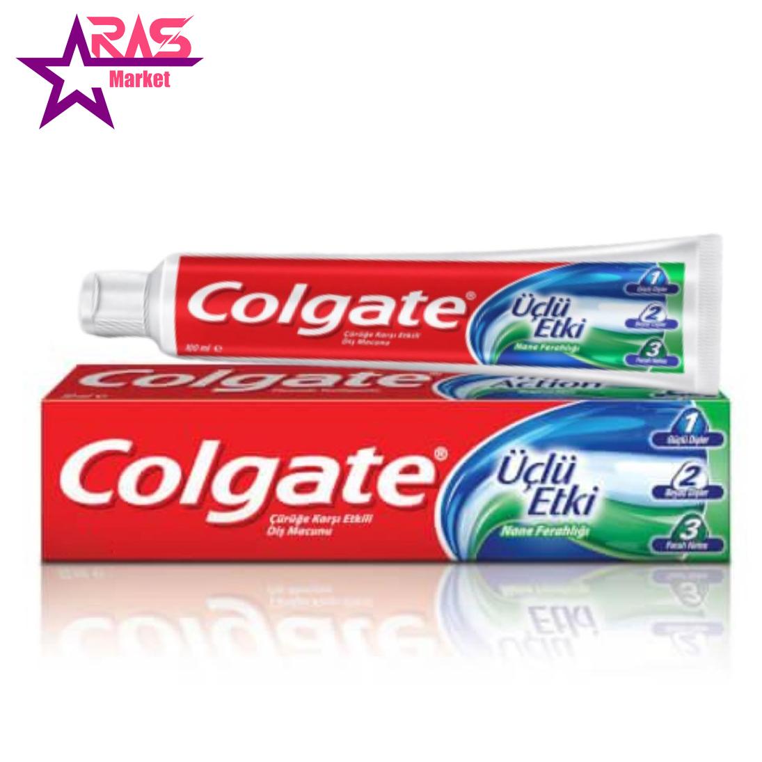 خمیر دندان کلگیت مدل Üçlü Etki حجم 100 میلی لیتر ، فروشگاه اینترنتی ارس مارکت ، بهداشت دهان و دندان ، خمیردندان کلگیت