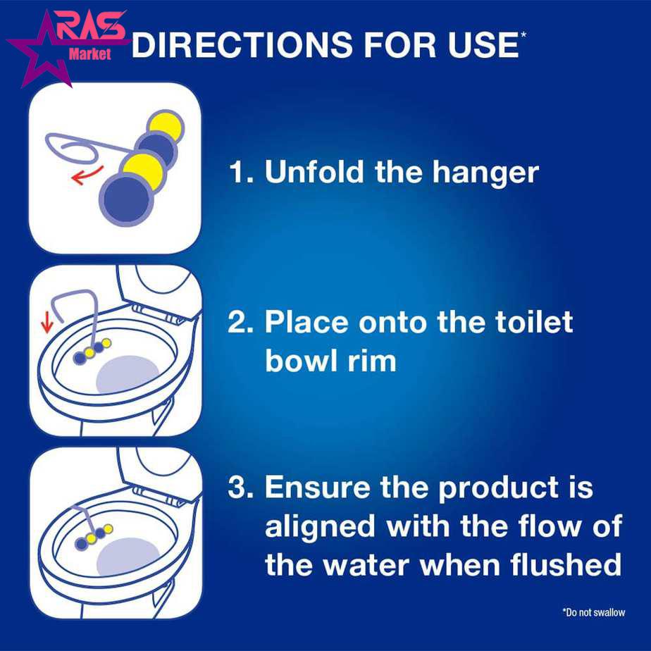 خوشبو کننده توالت فرنگی برف با رایحه نسیم اقیانوس 4 عددی ، فروشگاه اینترنتی ارس مارکت ، خوشبوکننده توالت برف