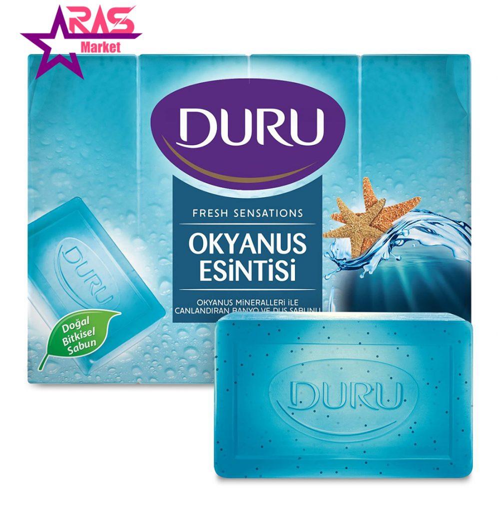صابون حمام دورو با رایحه نسیم اقیانوس 4 عددی ، خرید اینترنتی محصولات شوینده و بهداشتی ، ارس مارکت ، duru soap