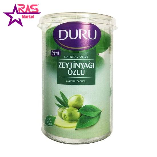 صابون دورو مدل Natural Olive حاوی عصاره روغن زیتون 4 عددی ، فروشگاه اینترنتی ارس مارکت ، استحمام