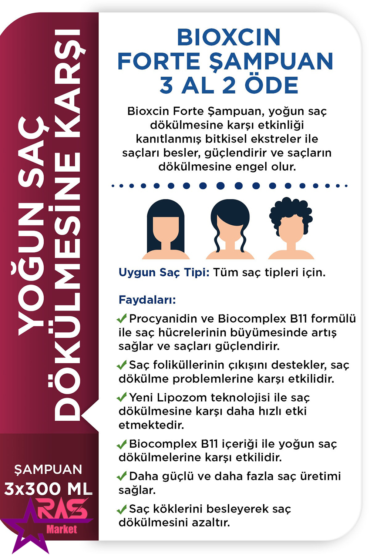 پک 3 تایی شامپو بیوکسین فورت ضد ریزش مو مناسب همه موها ، bioxcin forte pack
